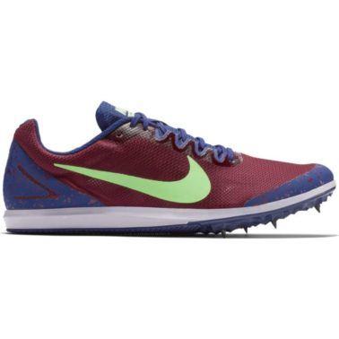NIKE ZOOM RIVAL D 10 BORDEAUX/LIME BLAST-REGENCY PURPLE